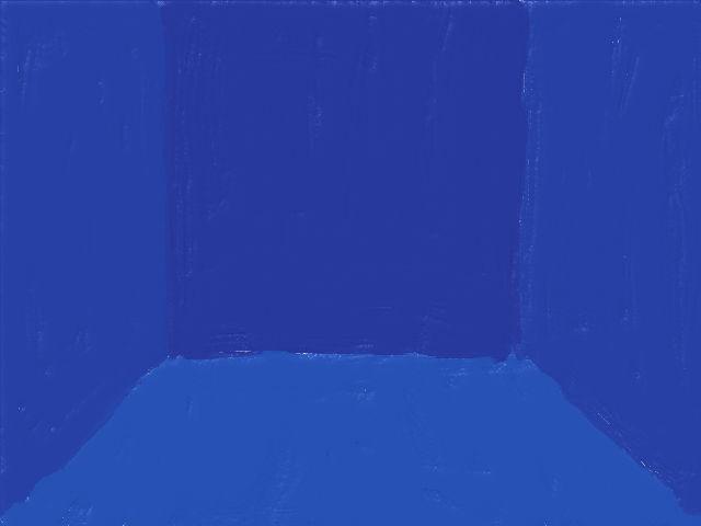 シンプルな部屋(青)