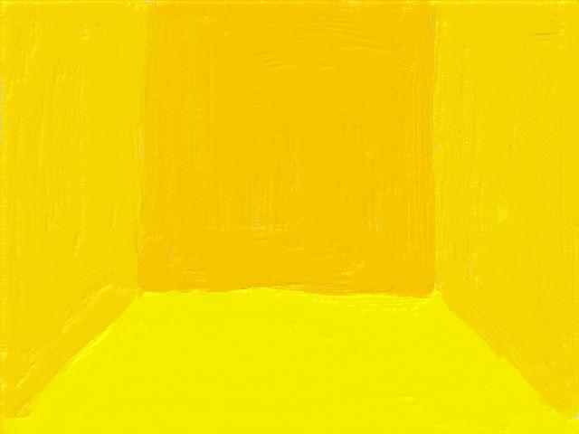 シンプルな部屋(黄)