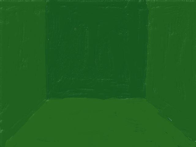 シンプルな部屋(緑)