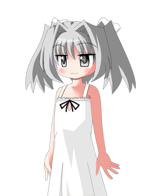 白い髪の女の子 1