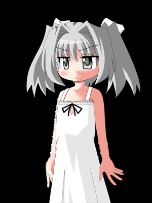 白い髪の女の子 2