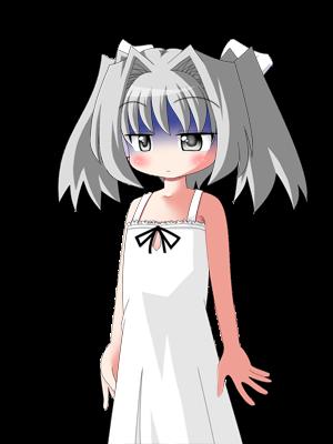 白い髪の女の子 4