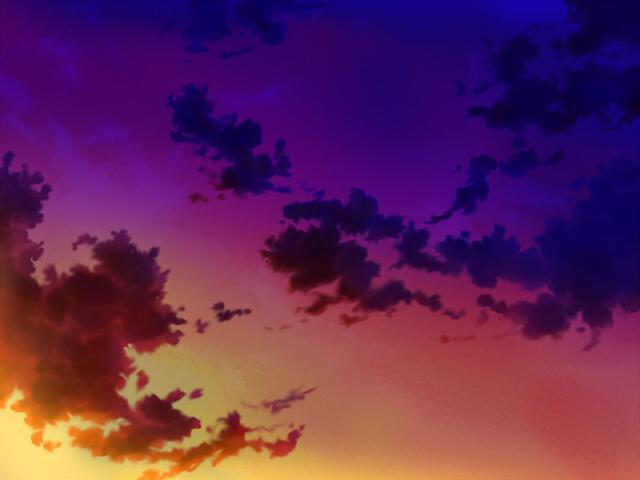 空(夕焼け翳り)