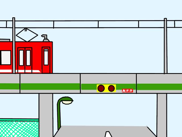 高架線と電車